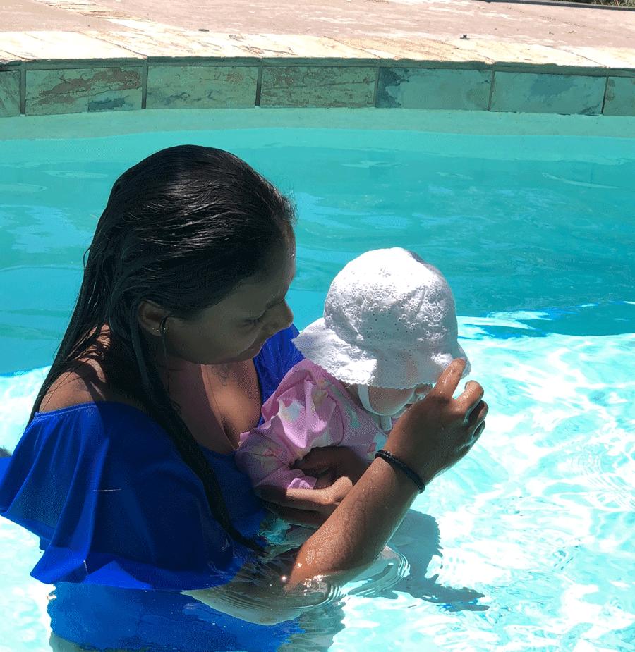 Ta hand om ett spädbarn